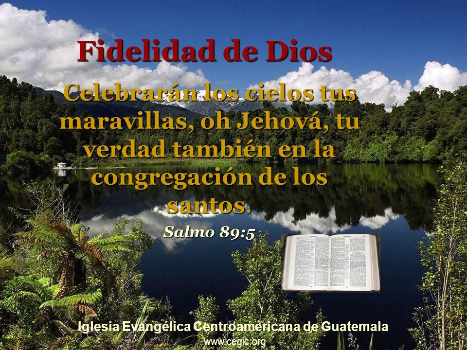 Fidelidad de Dios Celebrarán los cielos tus maravillas, oh Jehová, tu verdad también en la congregación de los santos.