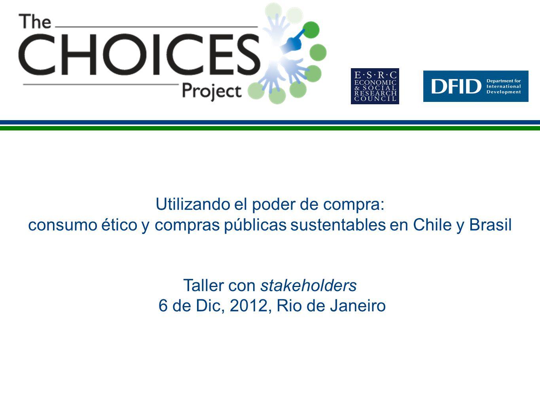 Contenidos 1.Introducción al Proyecto Choices 2. Proyecto Choices y la iniciativa SPPI de UNEP 3.