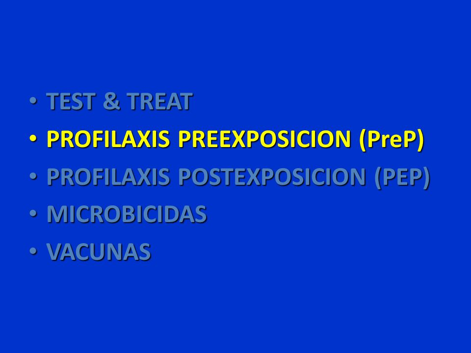 PREP Antirretrovirales Modelos animales 83 Efficacy of Intermittent Prophylaxis with Tenofovir and Emtricitabine against Rectal SHIV Transmission in Macaques – Grupo I: 2 h y +26 h HR 4.1 Grupo II: -2 h y +24 horas HR 4 – Grupo III: -22 h y +2 h HR 16.7 Grupo IV: -3 d y +2 h HR 15.4 – Grupo V: -7 d y +2 h HR 9.3 Grupo VI: -3 d HR 0.5 950 SHIV-specific T Cell Responses During Successful PrEP and Following Infection During PrEP -Robust SHIV-specific T cell responses following successful PrEP and repeated rectal SHIV exposures.