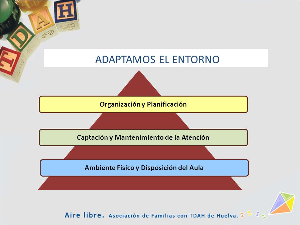 Ambiente Físico y Disposición del Aula Captación y Mantenimiento de la Atención Organización y Planificación ADAPTAMOS EL ENTORNO
