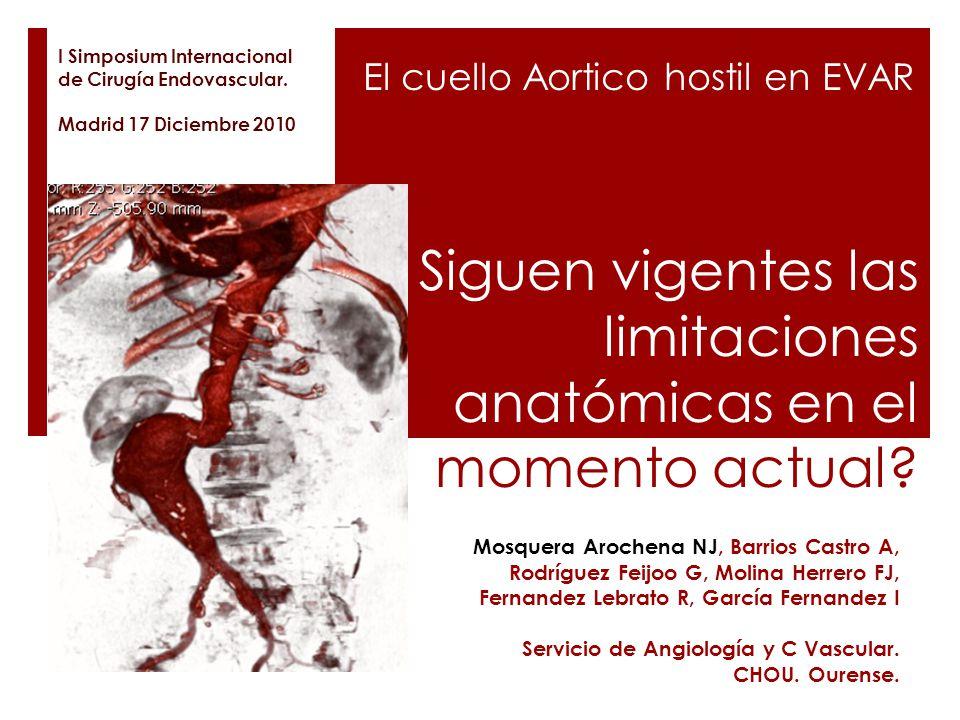 Siguen vigentes las limitaciones anatómicas en el momento actual? Mosquera Arochena NJ, Barrios Castro A, Rodríguez Feijoo G, Molina Herrero FJ, Ferna