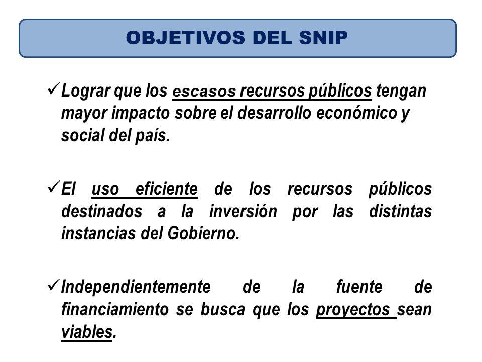 Lograr que los escasos recursos públicos tengan mayor impacto sobre el desarrollo económico y social del país. El uso eficiente de los recursos públic