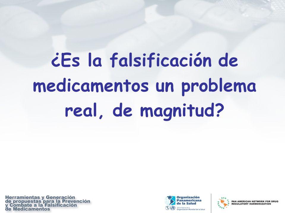 ¿Es la falsificación de medicamentos un problema real, de magnitud?