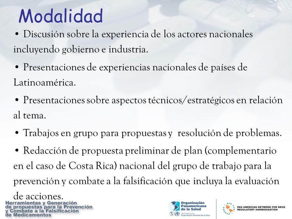 Discusión sobre la experiencia de los actores nacionales incluyendo gobierno e industria. Presentaciones de experiencias nacionales de países de Latin