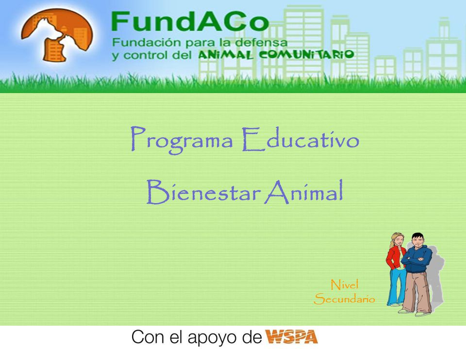 1 Programa Educativo Bienestar Animal Nivel Secundario