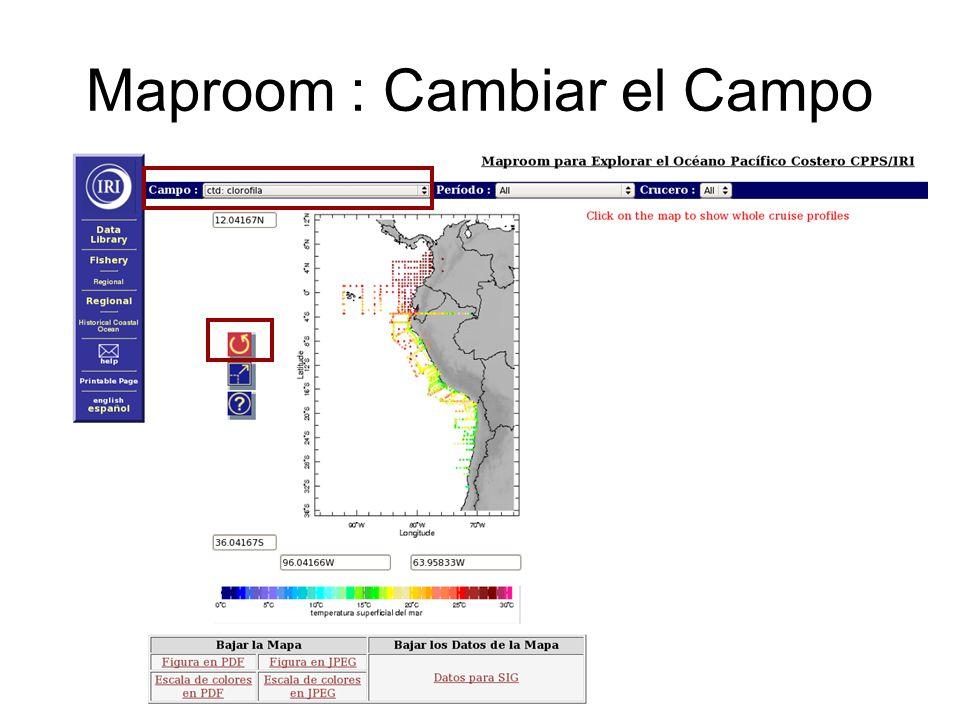 Maproom : Cambiar el Campo