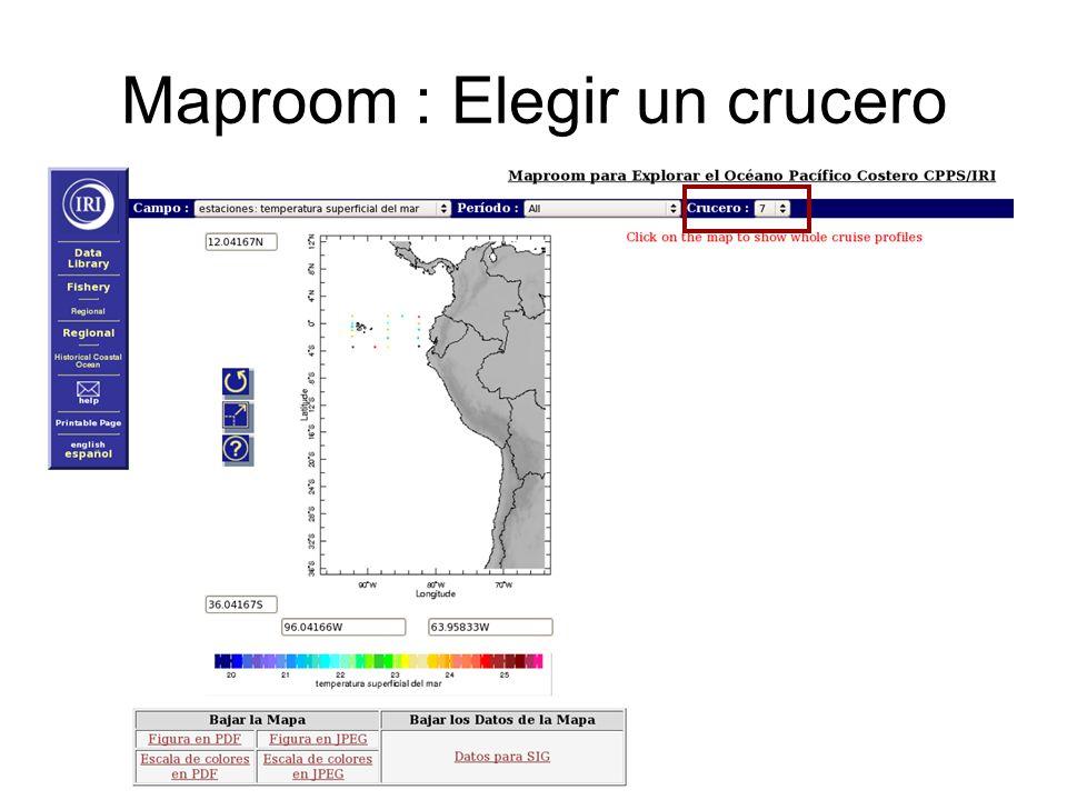 Maproom : Elegir un crucero
