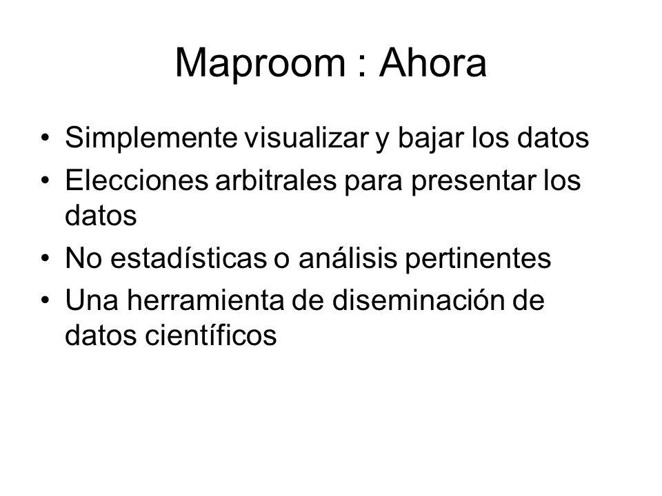 Maproom : Ahora Simplemente visualizar y bajar los datos Elecciones arbitrales para presentar los datos No estadísticas o análisis pertinentes Una her