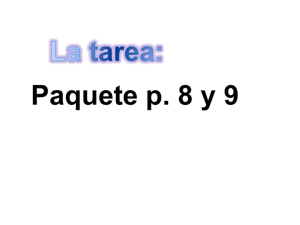 Paquete p. 8 y 9
