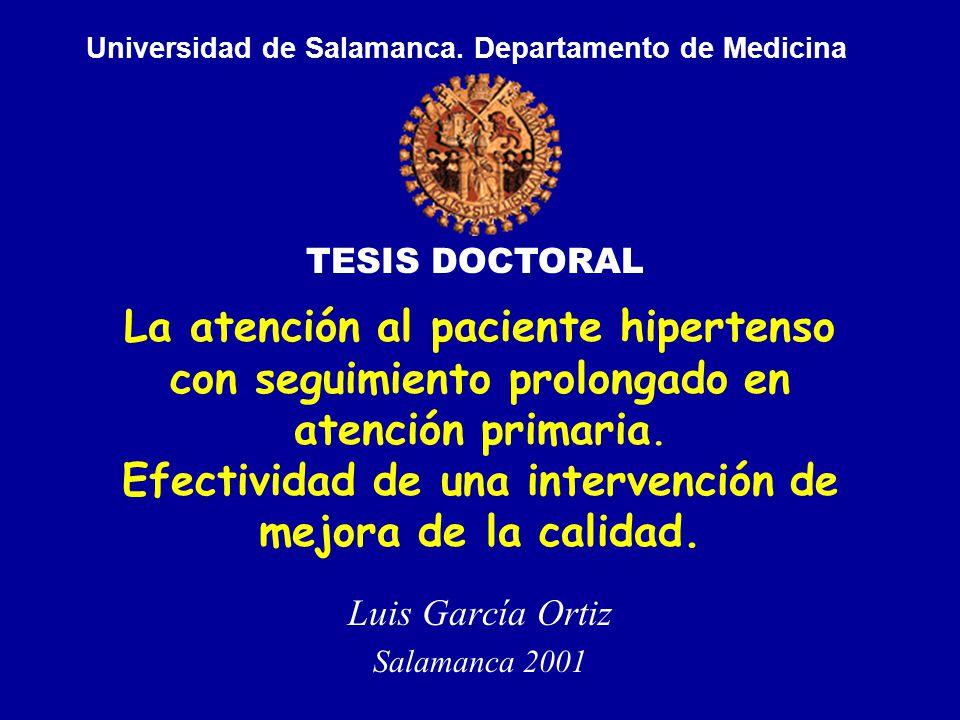 La atención al paciente hipertenso con seguimiento prolongado en atención primaria.