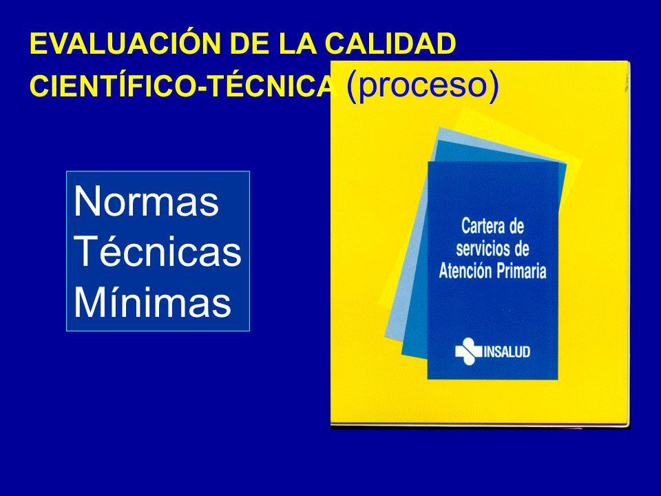 EVALUACIÓN DE LA CALIDAD CIENTÍFICO-TÉCNICA (proceso) Normas Técnicas Mínimas