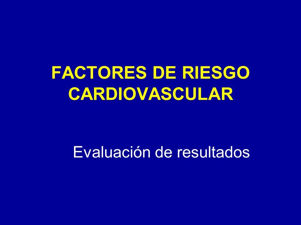 FACTORES DE RIESGO CARDIOVASCULAR Evaluación de resultados