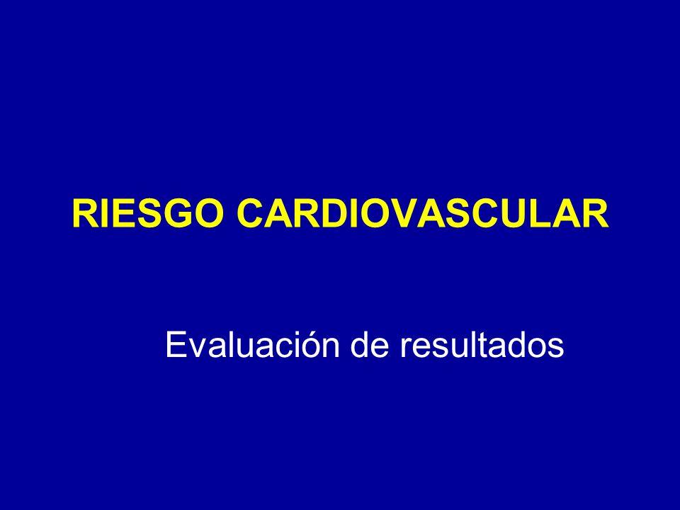 RIESGO CARDIOVASCULAR Evaluación de resultados