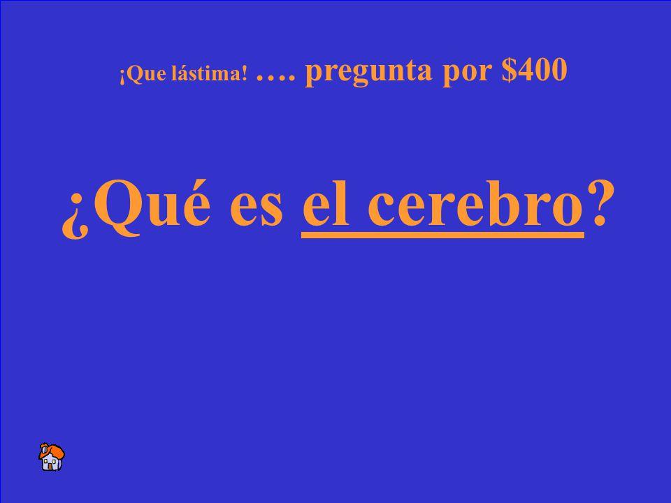 30 Lo necesito para pensar y tener éxito en la clase de español.