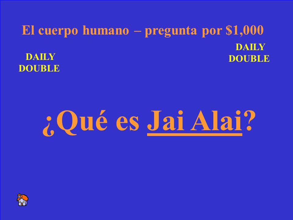 52 Este juego vino de España a Cuba y ahora está muy popular en Miami. Miami – respuesta por $500