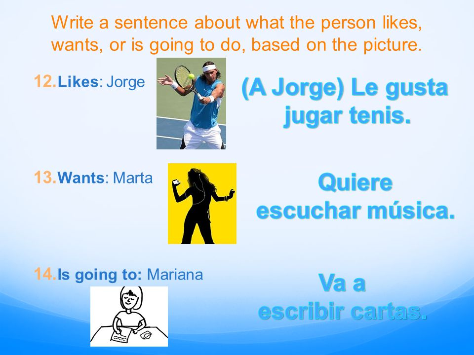 Translate the following sentences: 15.José likes to play sports with friends.