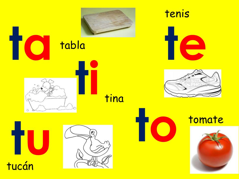 tete toto titi tutu tata tenis tina tomate tabla tucán