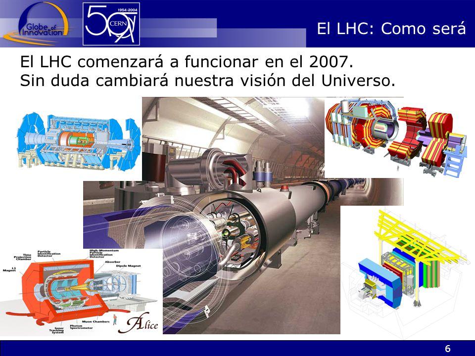 6 El LHC: Como será El LHC comenzará a funcionar en el 2007. Sin duda cambiará nuestra visión del Universo.