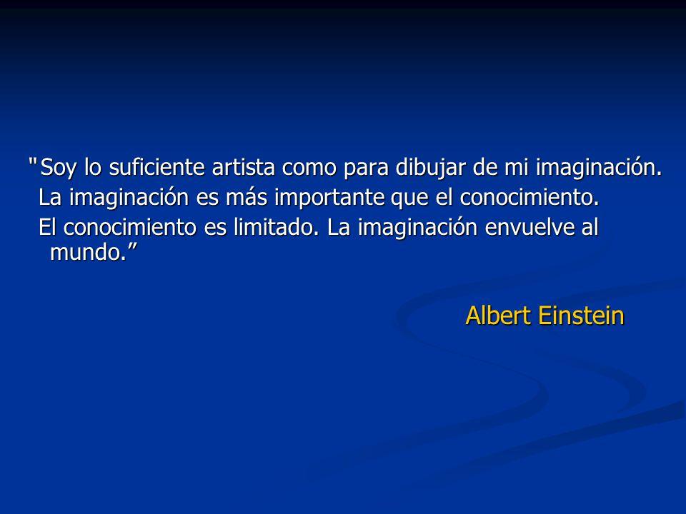 Soy lo suficiente artista como para dibujar de mi imaginación. Soy lo suficiente artista como para dibujar de mi imaginación. La imaginación es más im
