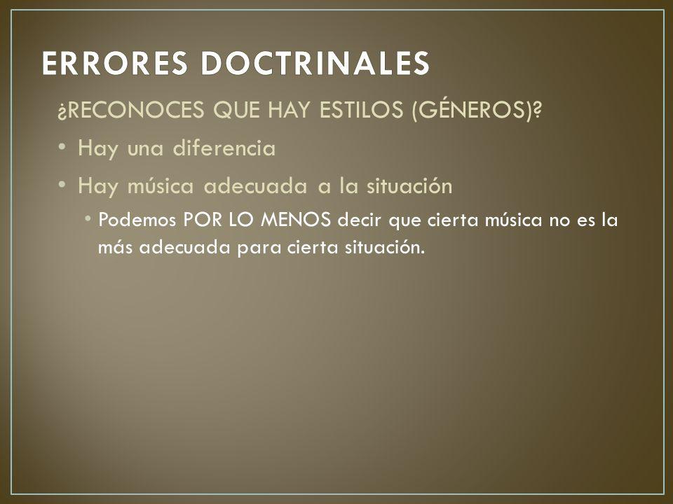 ¿RECONOCES QUE HAY ESTILOS (GÉNEROS).