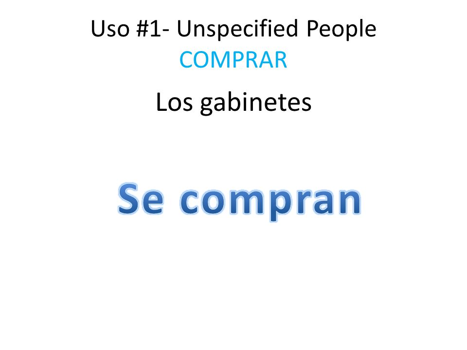 Uso #1- Unspecified People COMPRAR Los gabinetes