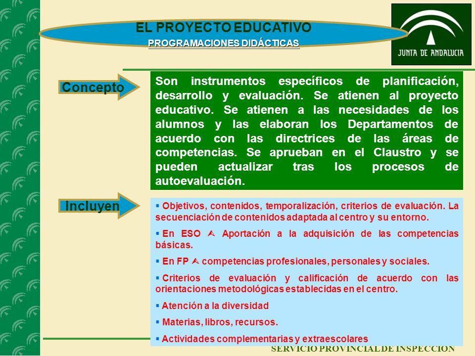 12 SERVICIO PROVINCIAL DE INSPECCIÓN EL PROYECTO EDUCATIVO LA AUTOEVALUACIÓN - MEMORIA La autoevaluación de los centros se realiza sobre su funcionami