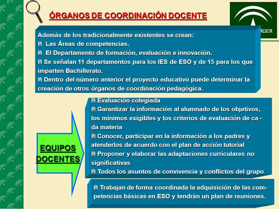 20 SERVICIO PROVINCIAL DE INSPECCIÓN - Proponer el nombramiento y cese de las jefaturas de departamento didácticas y de otros órganos de coordinación