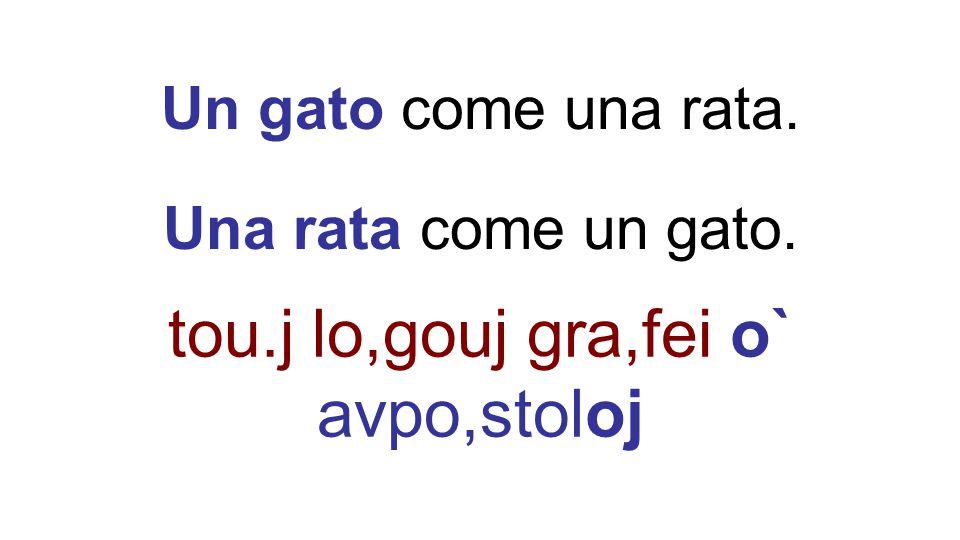 Un gato come una rata. Una rata come un gato. tou.j lo,gouj gra,fei o` avpo,stoloj