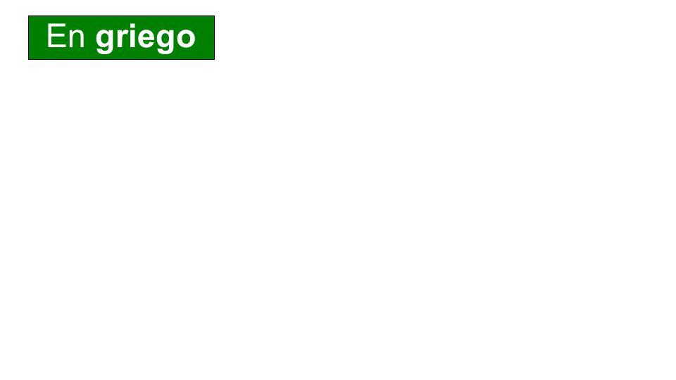 Caso/Número PalabraTraducción Nominativo λόγ ος la palabra Genenitivo το λόγ ου de la palabra Dativo τ λόγ a la palabra Acusativo τ ν λόγ ον la palabra Vocativo λόγ ε ¡oh palabra.