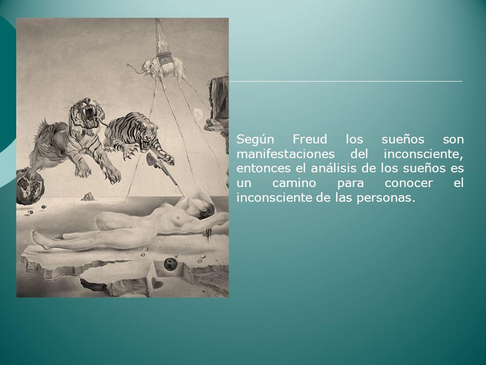 Según Freud los sueños son manifestaciones del inconsciente, entonces el análisis de los sueños es un camino para conocer el inconsciente de las perso
