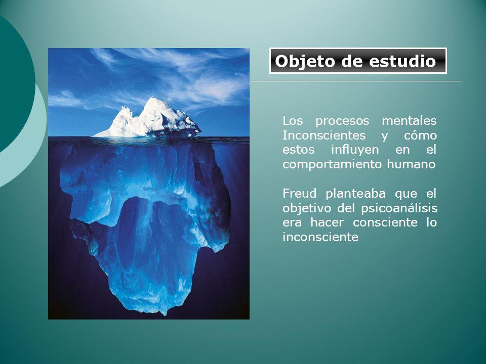 Los procesos mentales Inconscientes y cómo estos influyen en el comportamiento humano Freud planteaba que el objetivo del psicoanálisis era hacer cons