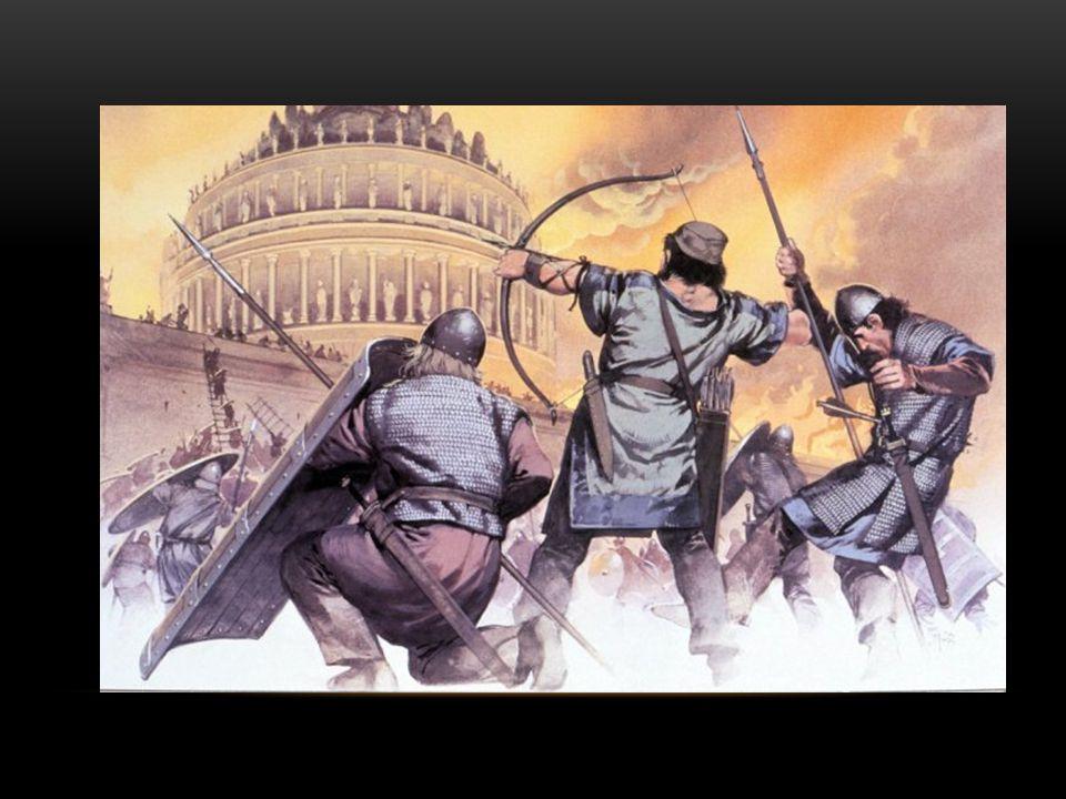 CONSECUENCIAS Invasiones Bárbaras: Visigodos: España Ostrogodos: Italia Francos: (Galia) Francia Vándalos (África) Anglosajones y Bretones (Inglaterra) Tras la caída de los reinos bárbaros se iniciará la época del feudalismo