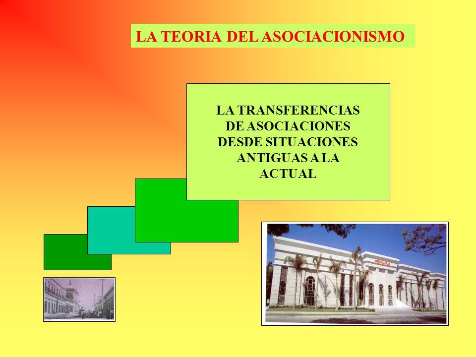 LA TEORIA DEL ASOCIACIONISMO LA TRANSFERENCIAS DE ASOCIACIONES DESDE SITUACIONES ANTIGUAS A LA ACTUAL