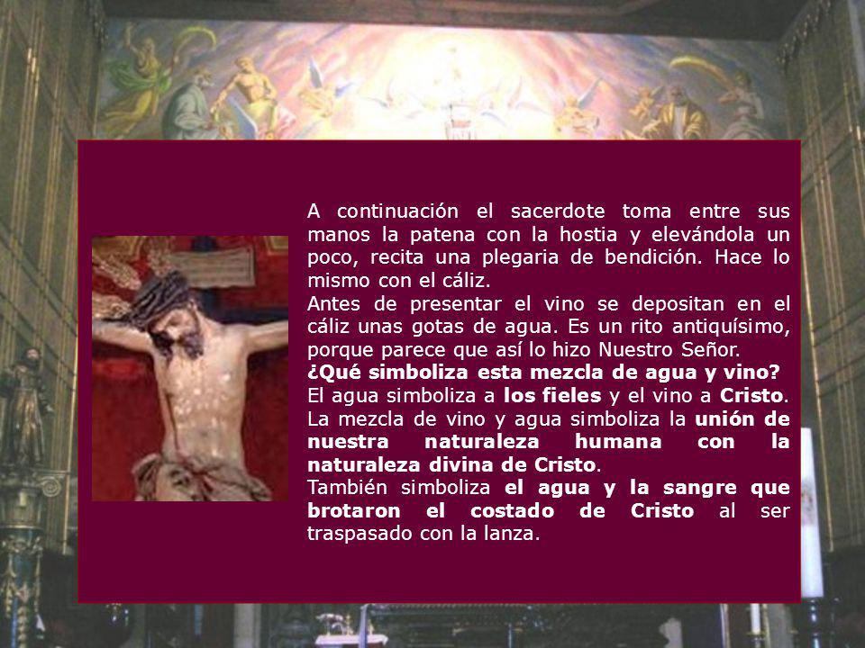 Presentación de las ofrendas Primero se prepara el altar o mesa del Señor, colocando el Corporal, el Cáliz y el Misal en el altar. Luego los fieles pr