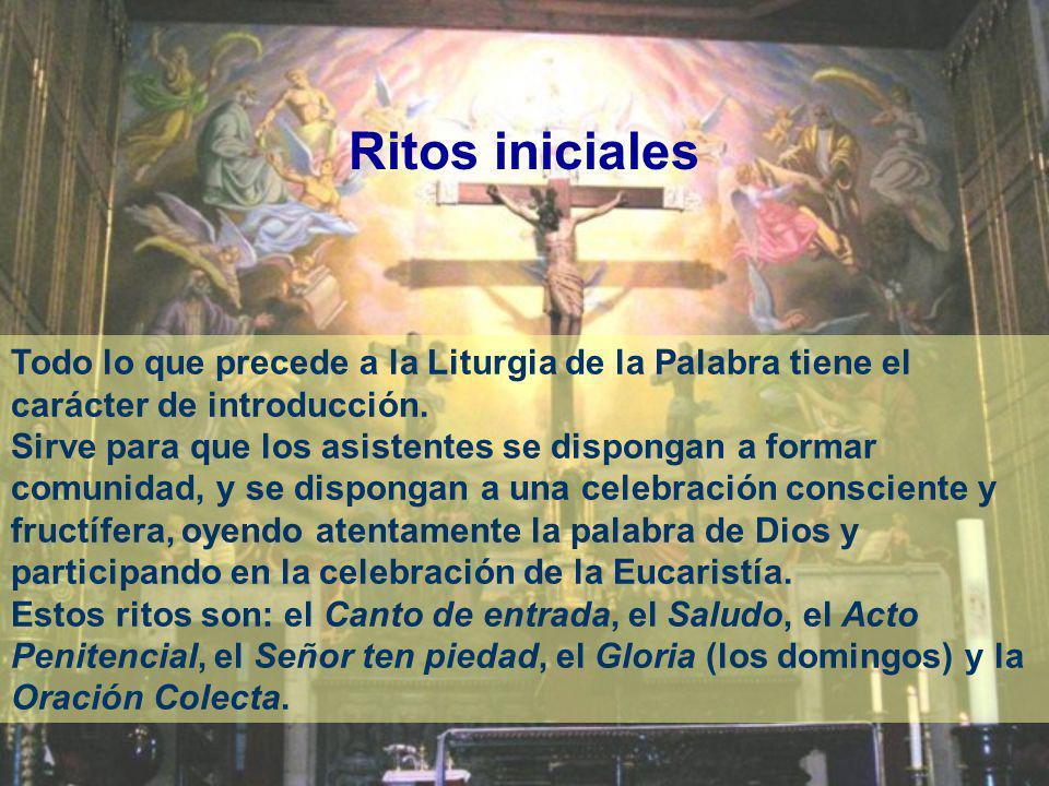 La Misa cuenta con una preparación, llamada Ritos iniciales. Tiene dos partes importantes: Liturgia de la Palabra y Liturgia Eucarística que constituy