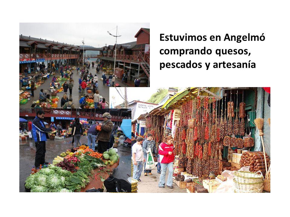 Estuvimos en Angelmó comprando quesos, pescados y artesanía