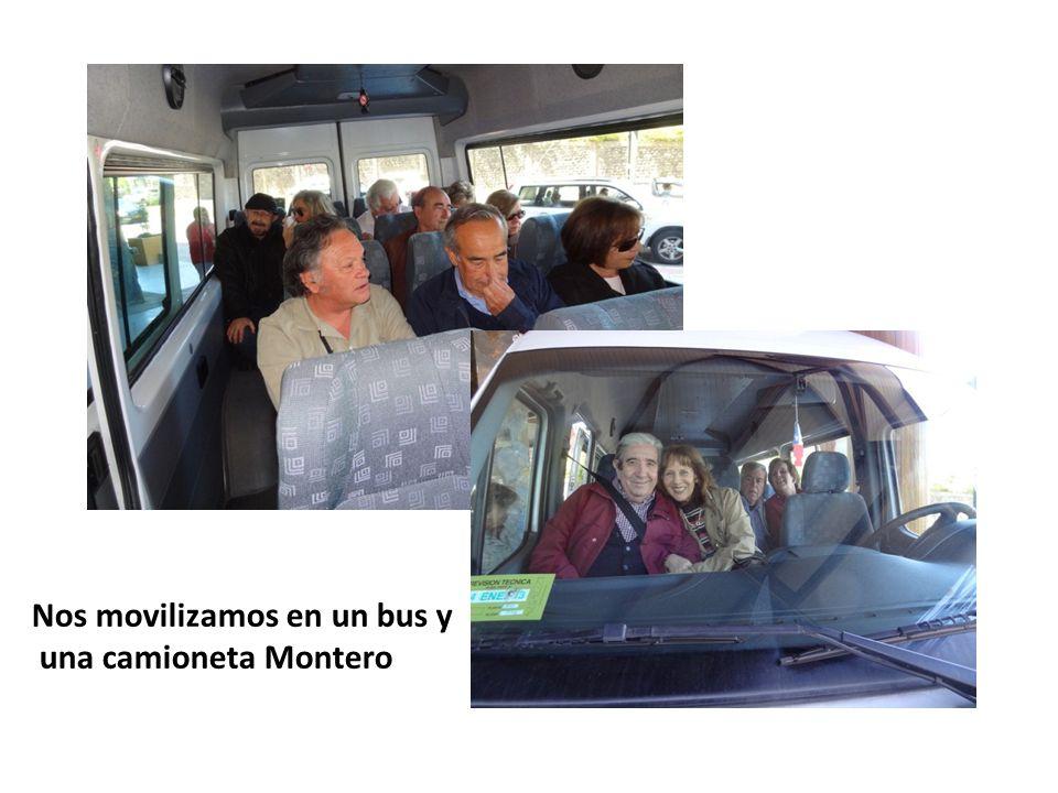 Nos movilizamos en un bus y una camioneta Montero