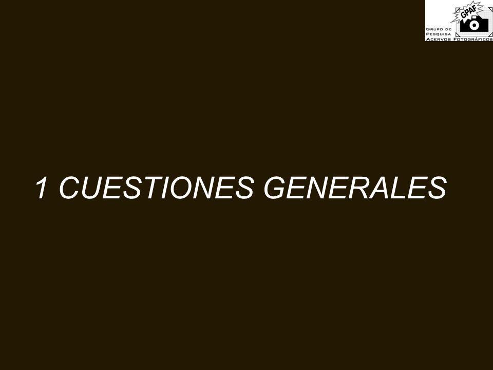 1 CUESTIONES GENERALES