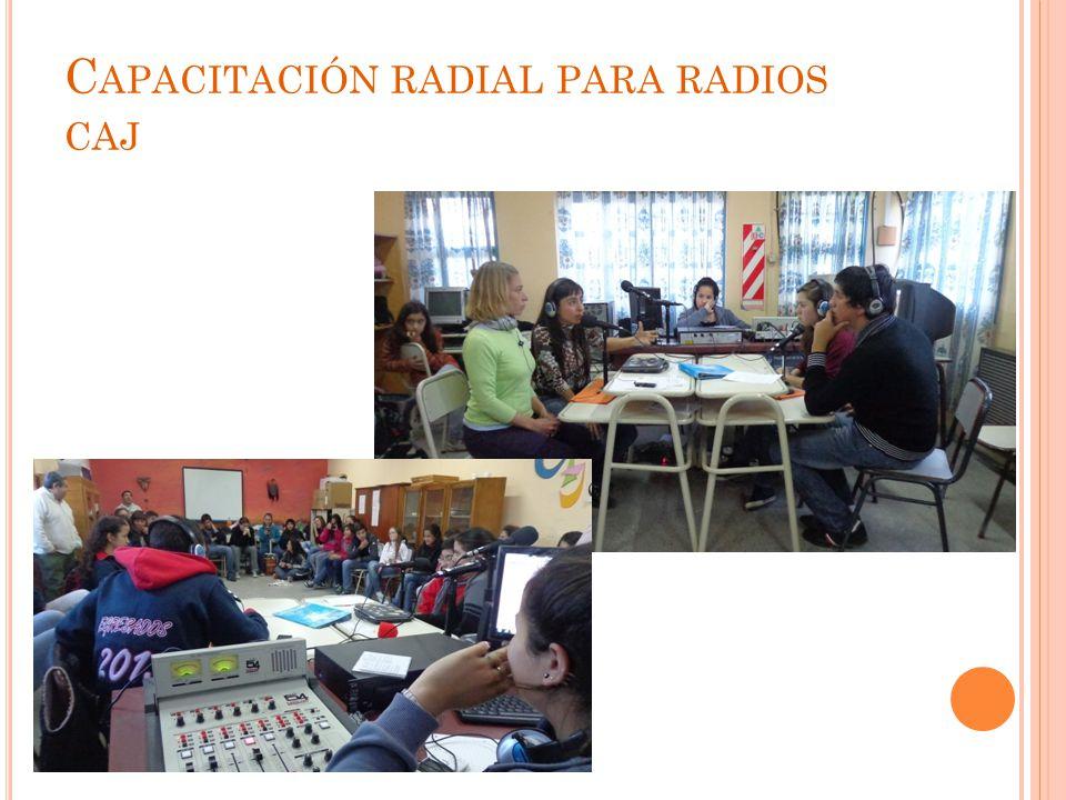 C APACITACIÓN RADIAL PARA RADIOS CAJ