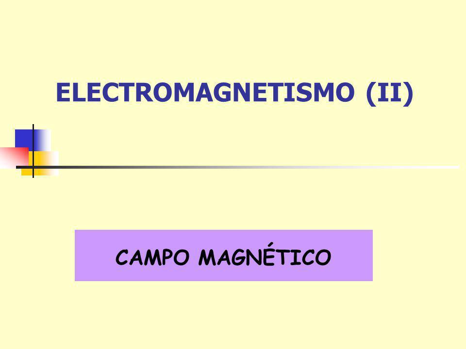 ELECTROMAGNETISMO (II) CAMPO MAGNÉTICO
