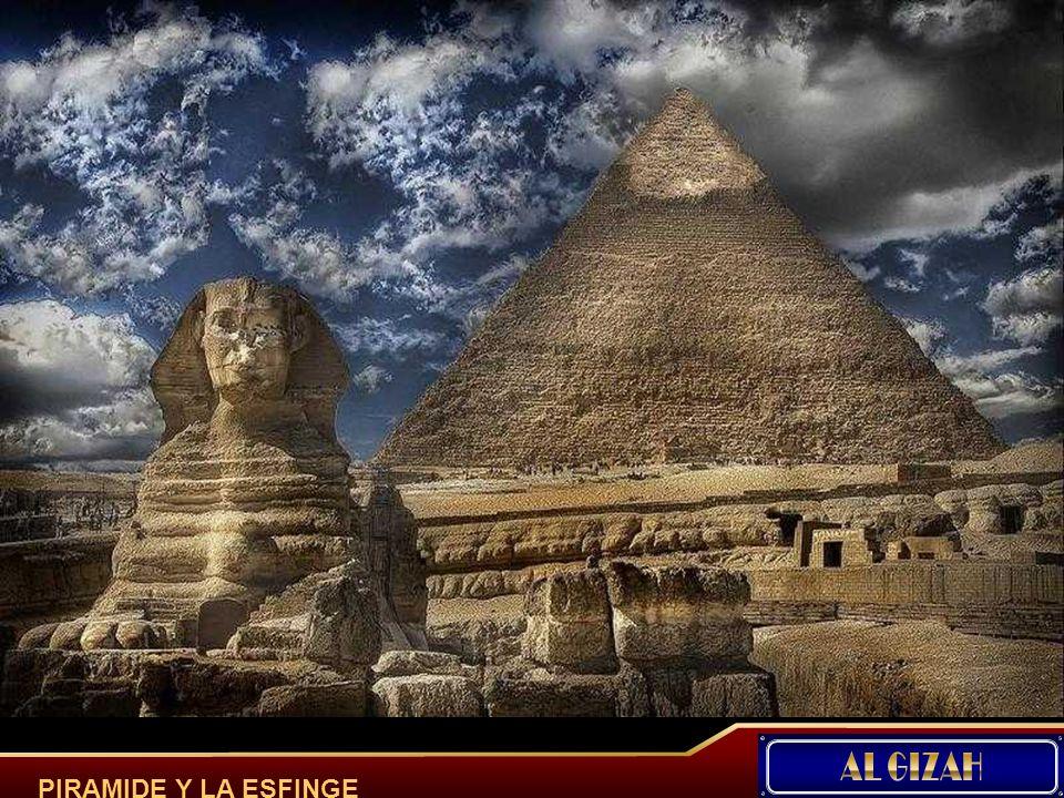 La Esfinge de Giza - La Gran Esfinge se realizó esculpiendo un montículo natural de roca caliza en la meseta de Giza. Tiene una altura de unos veinte