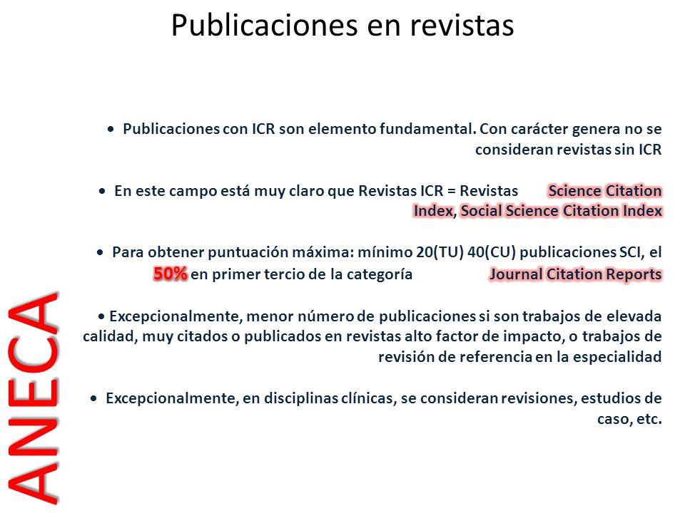 Publicaciones en revistasANECA