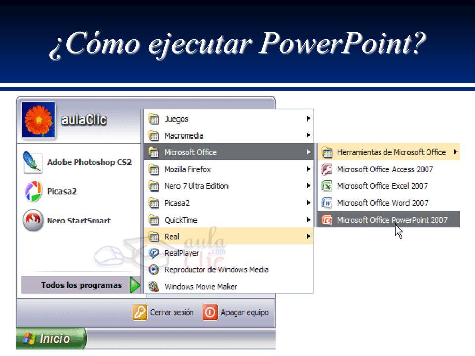 ¿Cómo ejecutar PowerPoint?