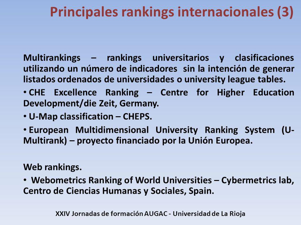 Multirankings – rankings universitarios y clasificaciones utilizando un número de indicadores sin la intención de generar listados ordenados de univer