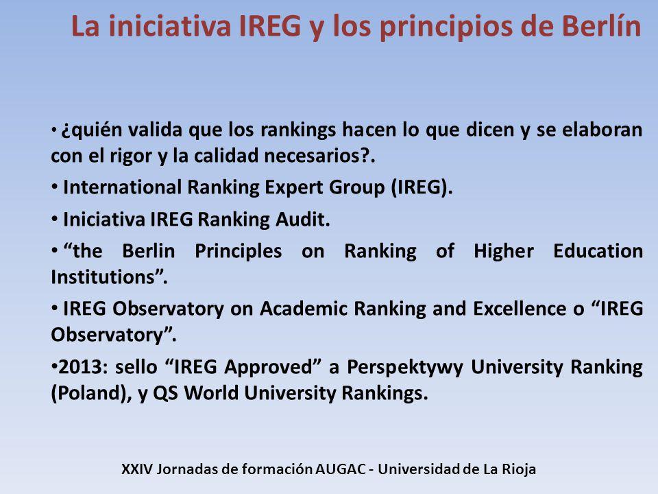 ¿quién valida que los rankings hacen lo que dicen y se elaboran con el rigor y la calidad necesarios?. International Ranking Expert Group (IREG). Inic