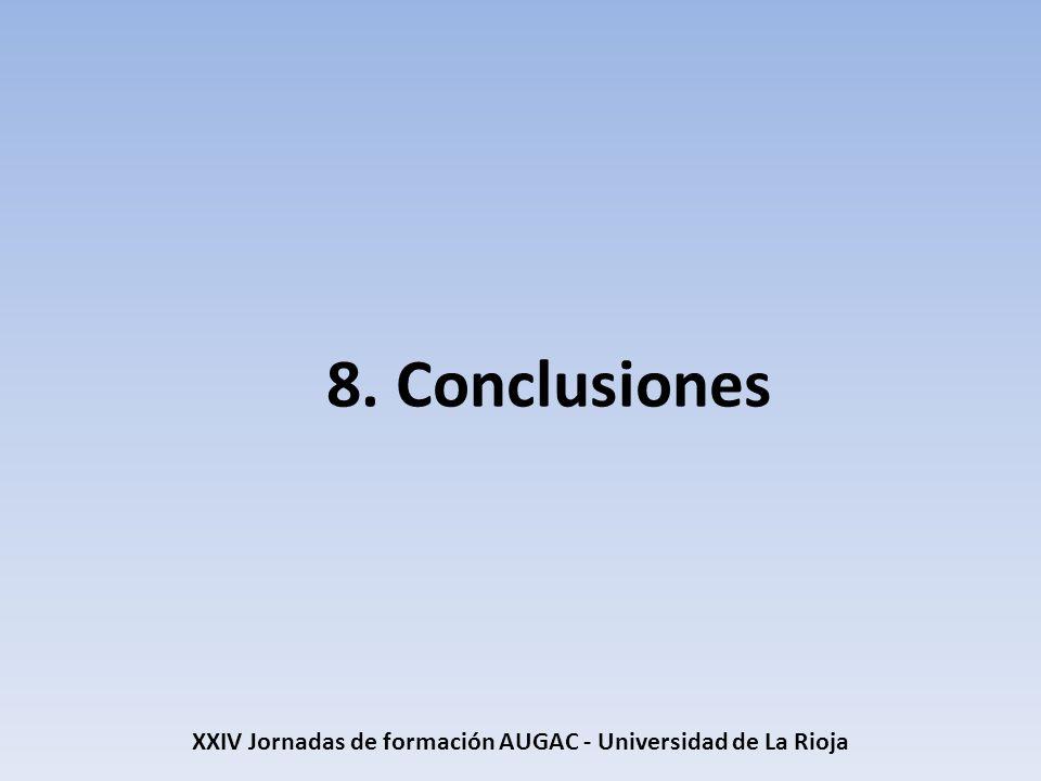 8. Conclusiones XXIV Jornadas de formación AUGAC - Universidad de La Rioja