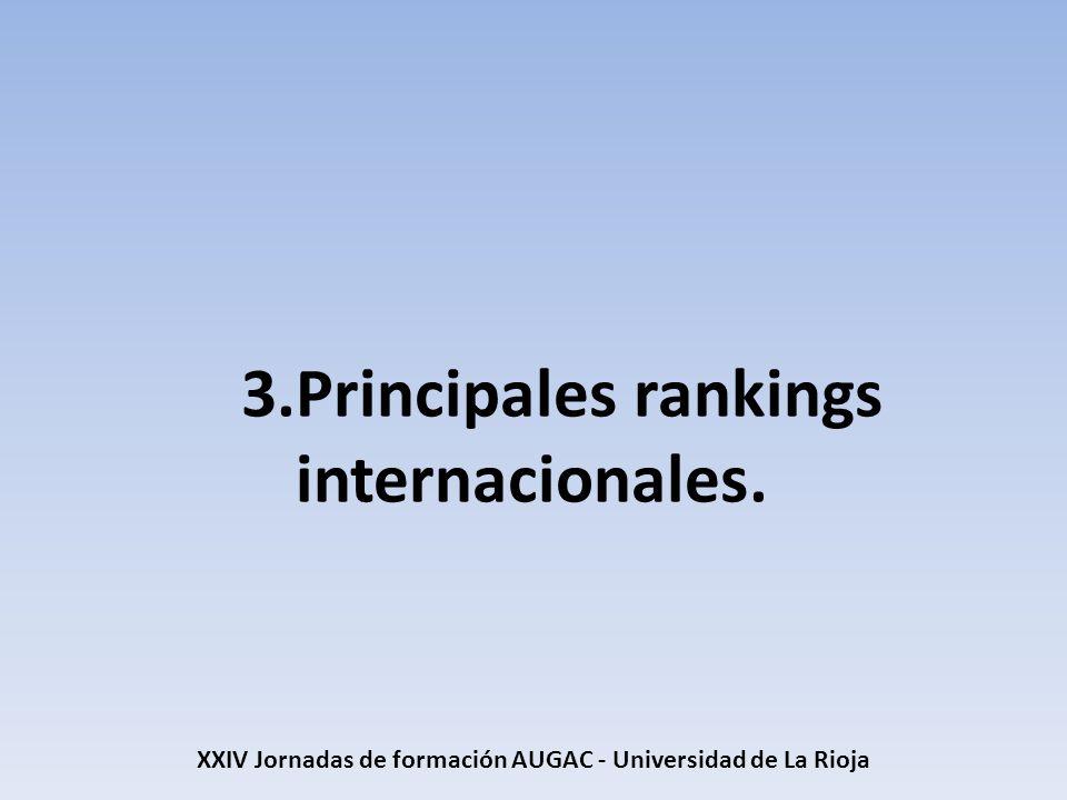 XXIV Jornadas de formación AUGAC - Universidad de La Rioja Más información (4) U-Multirank Nuevo ranking multidimensional europeo: U-Multirank Nuevo ranking multidimensional europeo: U-Multirank Nuevo ranking europeo: U-Multirank (segunda parte) Nuevo ranking europeo: U-Multirank (segunda parte) U-Multirank, página oficial.