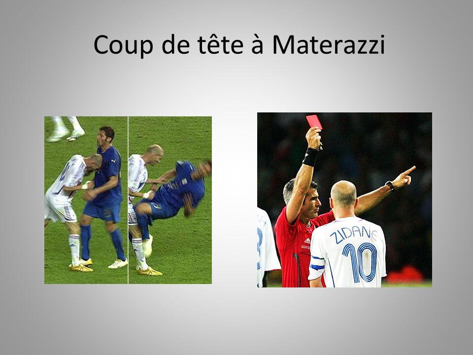 Coup de tête à Materazzi