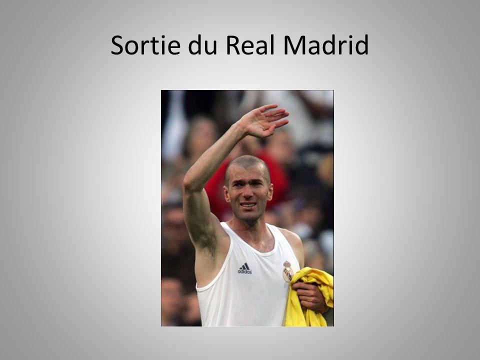 Sortie du Real Madrid