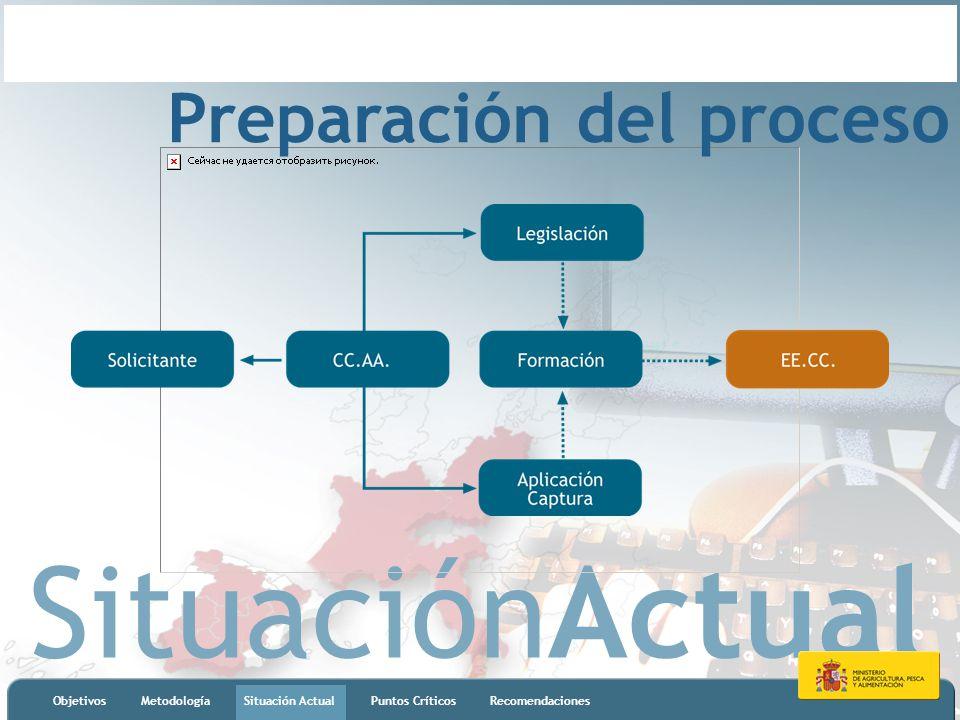 SituaciónActual ObjetivosMetodologíaSituación ActualPuntos CríticosRecomendaciones Preparación del proceso